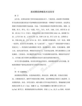 滇重楼的种植技术及培育.doc