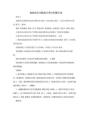 加油站安全隐患自查自纠报告表.doc