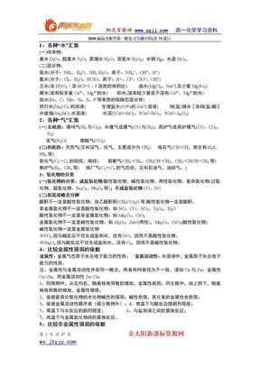 【强烈推荐】2010届高考化学第一轮复习专题小结(共71讲).doc