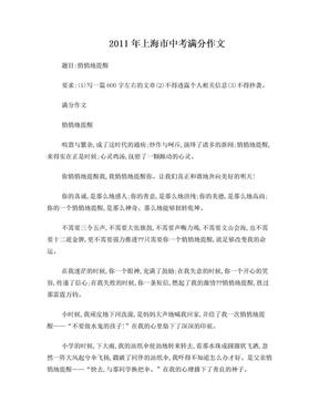 2011年上海市中考满分作文.doc