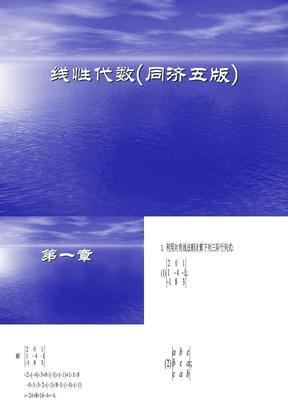 工程数学线性代数(同济大学第五版)答案.ppt