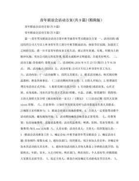 青年联谊会活动方案(共9篇)(精简版).doc