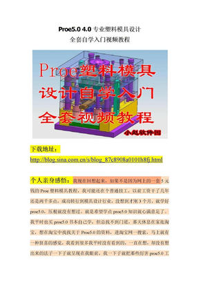 Proe5.0全套专业塑料模具设计视频教程.doc