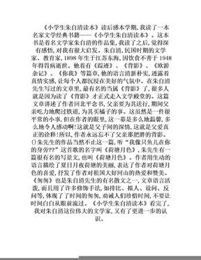 《小学生朱自清读本》读后感.doc