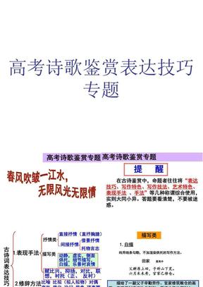 2014年高考复习诗歌鉴赏表达技巧.ppt