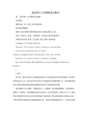 武汉理工大学课程论文格式.doc