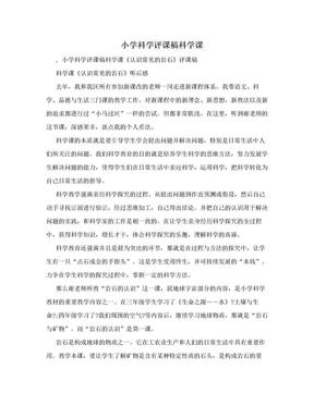 小学科学评课稿科学课.doc