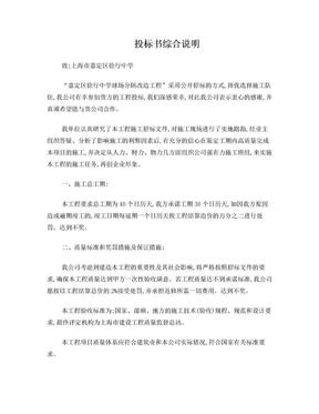 投标书综合说明.doc