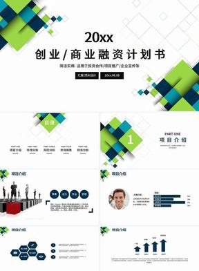 多色彩创业商业项目融资计划书PPT 1208.pptx