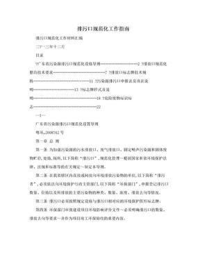 排污口规范化工作指南.doc