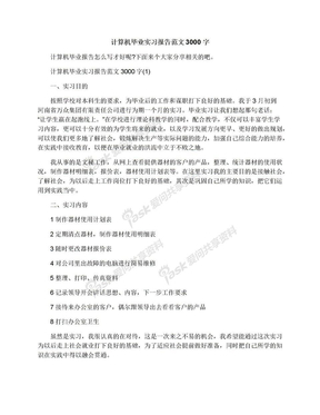 计算机毕业实习报告范文3000字.docx