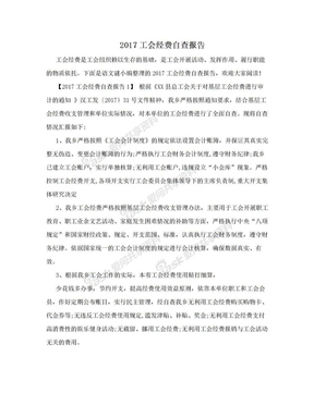 2017工会经费自查报告.doc