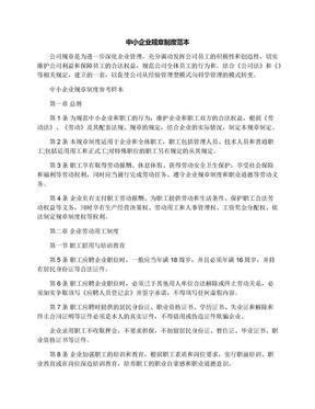 中小企业规章制度范本.docx