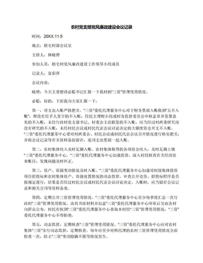 农村党支部党风廉政建设会议记录.docx