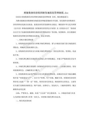 村级集体经济组织财务规范化管理制度.doc.doc