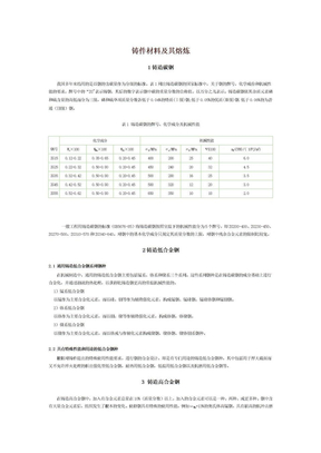 铸件材料及其熔炼.doc