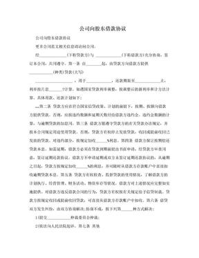 公司向股东借款协议.doc