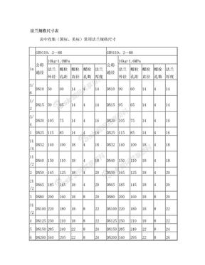 法兰尺寸规格表.doc
