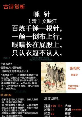 【鄂教版】九年级上册《骆驼赋》教学课件.ppt