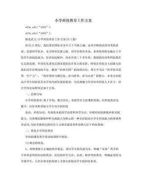 小学科技教育工作方案.doc