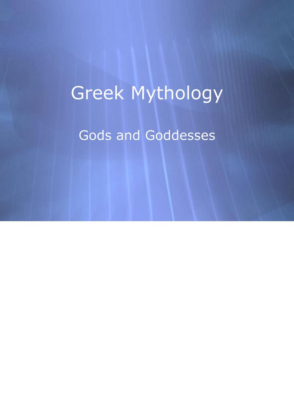 mythology(12pictures).ppt