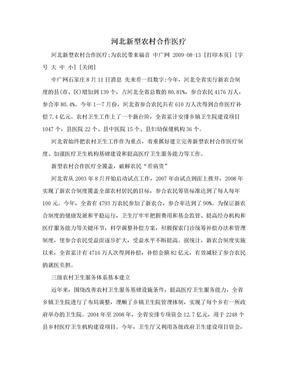 河北新型农村合作医疗.doc