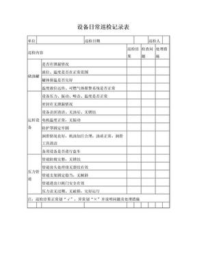 设备日常巡检记录表.doc