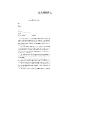 竞业限制协议.doc