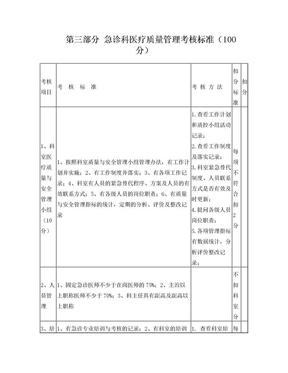 急诊科医疗质量管理考核标准.doc