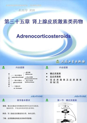 第三十五章  肾上腺皮质激素类药物.ppt