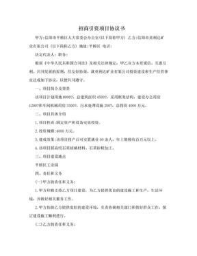 招商引资项目协议书.doc