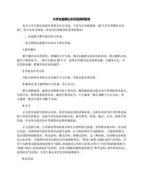 大学生暑期社会实践调研报告.docx
