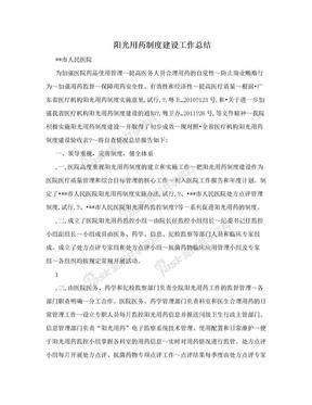 阳光用药制度建设工作总结.doc