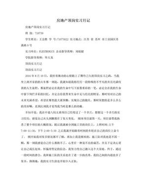 房地产顶岗实习月记.doc