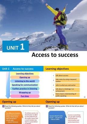(新版)新视野大学英语视听说教程2第三版BOOK3 UNIT1.pptx