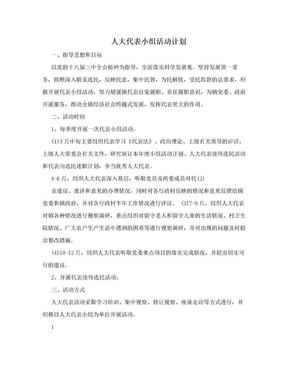 人大代表小组活动计划.doc