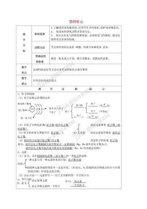 九年级化学上册 第4单元 复习教案 (新版)新人教版.doc