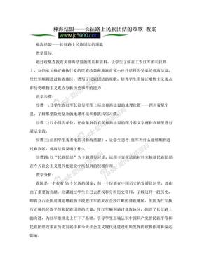 彝海结盟——长征路上民族团结的颂歌 教案.doc