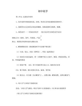 人教版初中化学知识点总结.doc