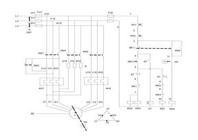 双速电动机自动变速带反接制动电路.doc