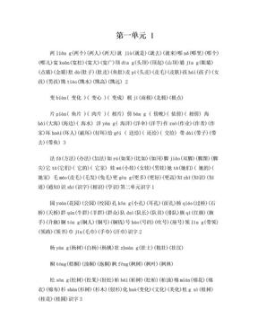 2018部编最新语文二年级上册生字表二组词带拼音版.doc