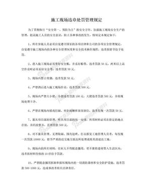 建筑施工现场违章处罚管理规定.doc