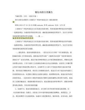 银行内控自查报告.doc