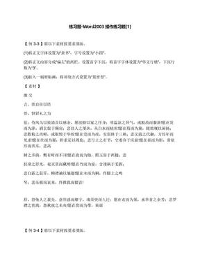 练习题-Word2003操作练习题[1].docx