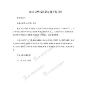 公司贷款股东会决议.doc