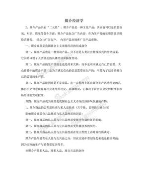 媒介经济学.doc