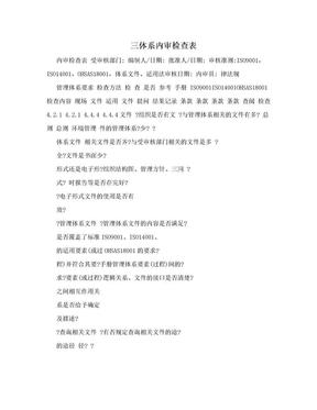 三体系内审检查表.doc