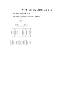【DOC】-项目部安全组织机构框图-新.doc