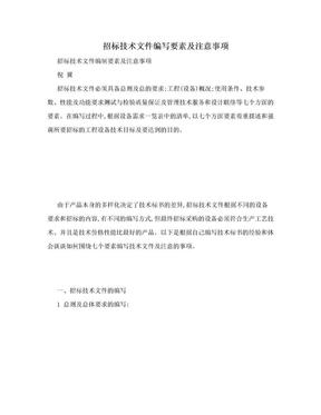 招标技术文件编写要素及注意事项.doc