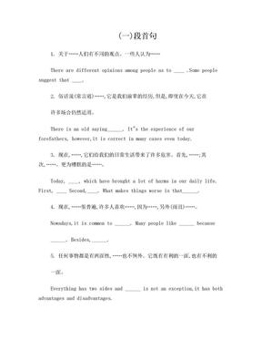 英语四级作文万能句.doc